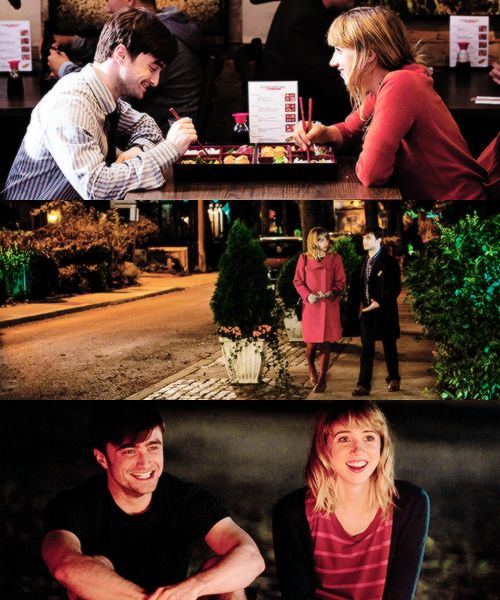 Zoe Kazan y Daniel Radcliffe en What If