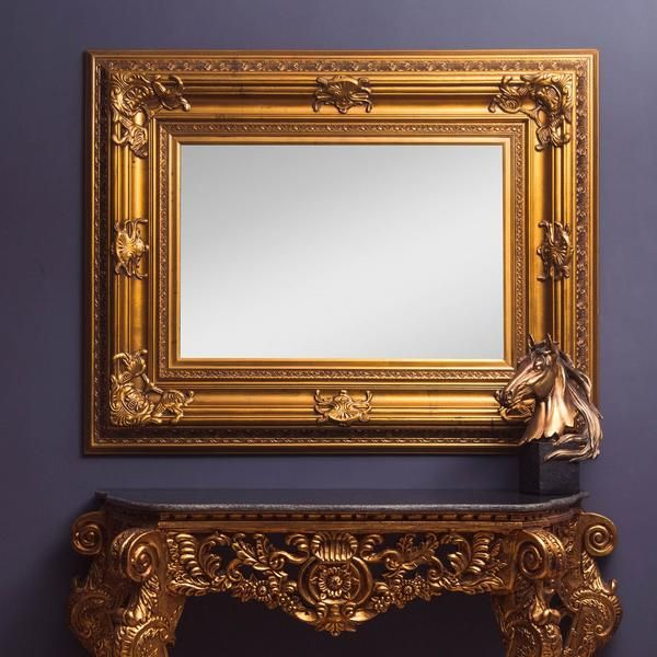 Victorian Ornate Hand Carved Gold Mirror Mirror Gold Ornate