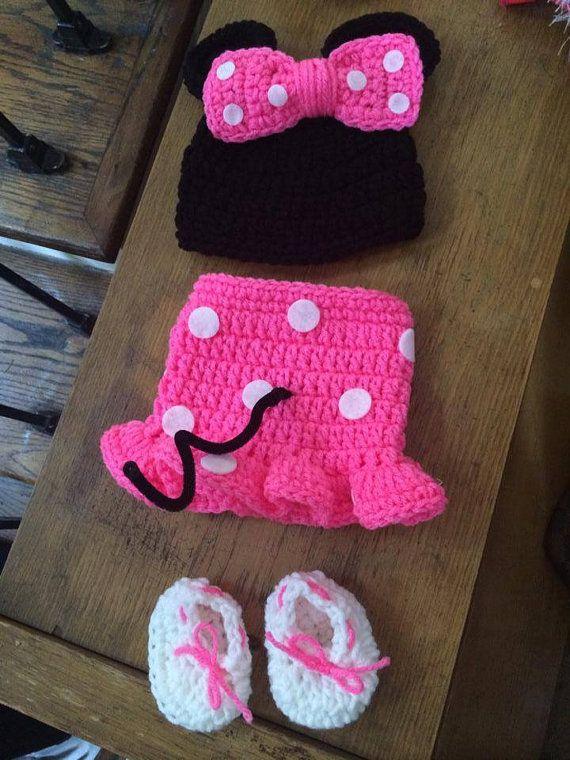 Baby meisje hoed MINNIE MOUSE geïnspireerd door JerribeccaHats2