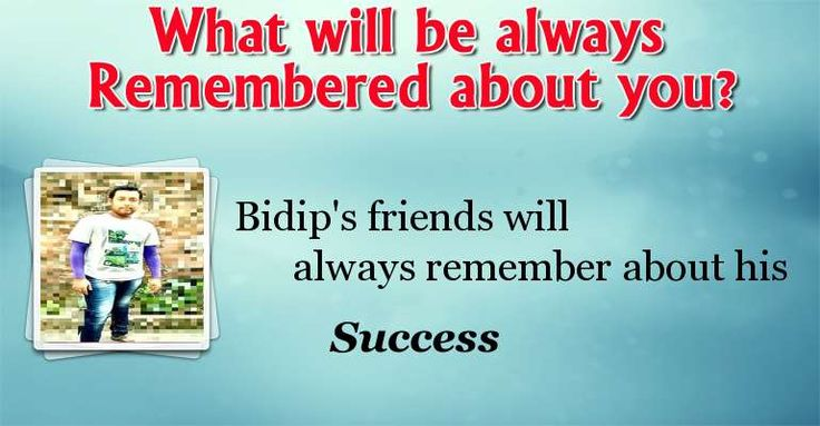 Check my results of For What you will be always Remembered? Facebook Fun App by clicking Visit Site button