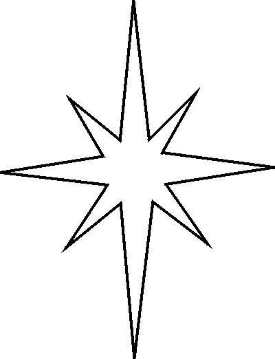 Learn to Draw compast Stars template | Christmas Star Stencil -- Free Christmas Star Stencil to Print and Cut ...