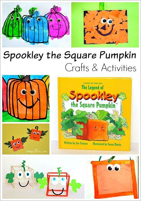 Activities and Crafts for Kids Inspired by the popular children's book, Spookley the Square Pumpkin! Perfect for fall and Halloween! ~ BuggyandBuddy.com