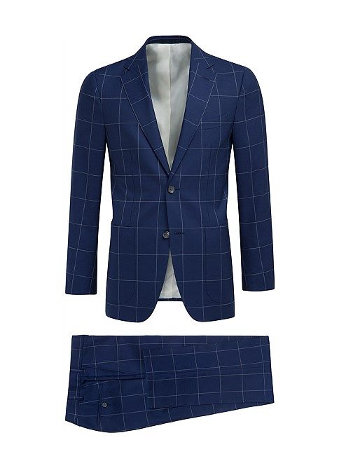 Suit Blue Check Havana P4875 | Suitsupply Online Store