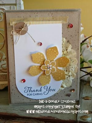 stampin up, Ink-a-Doodle Creations, ssink, thank you handmade cards, beautiful bunch, lots of thanks