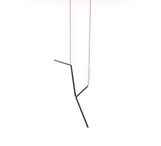 Henriette Schuster - Pendant / blackened silver, elastic