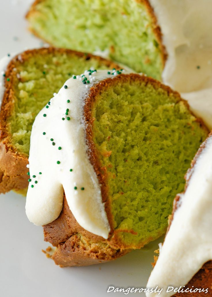 This Pistachio Pudding Cake with Cream Cheese Frosting is not just pretty, it's amazing too! The cake is super moist and fluffy and has the sweet flavor of pistachio pudding. YUM! Need a reason to bake it?... St. Patty's Day, Christmas and Easter are the perfect excuse!  Food Advertising by Every year on the night before…