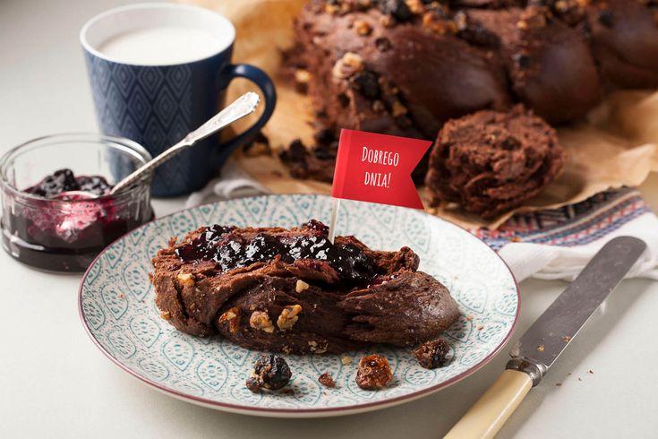 Chałka czekoladowa #chałka #bread #cake #ciasto #czekolada #chocolate #kakao #orzechy #nut #breakfast #breakfastrecipes #śniadanie #przepis #recipe