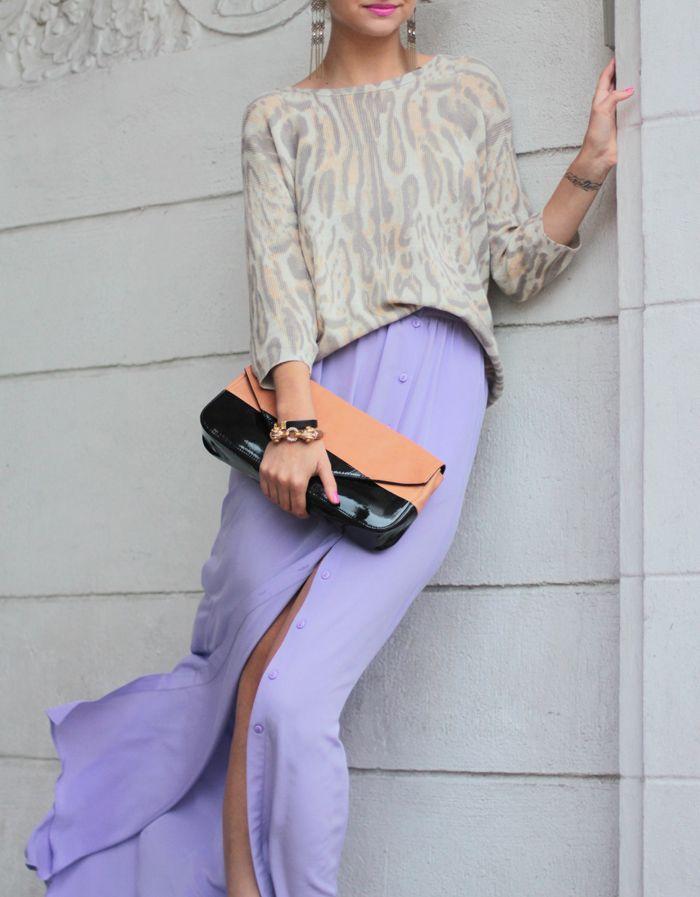 (skirt-Tibi, sweater-Wilfred, shoes-3.1 Phillip Lim, earrings- Jewel Mint, bracelets-Jewel Mint, J.Crew, clutch-Pour La Victoire, sunglasses-c/o David Yurman)