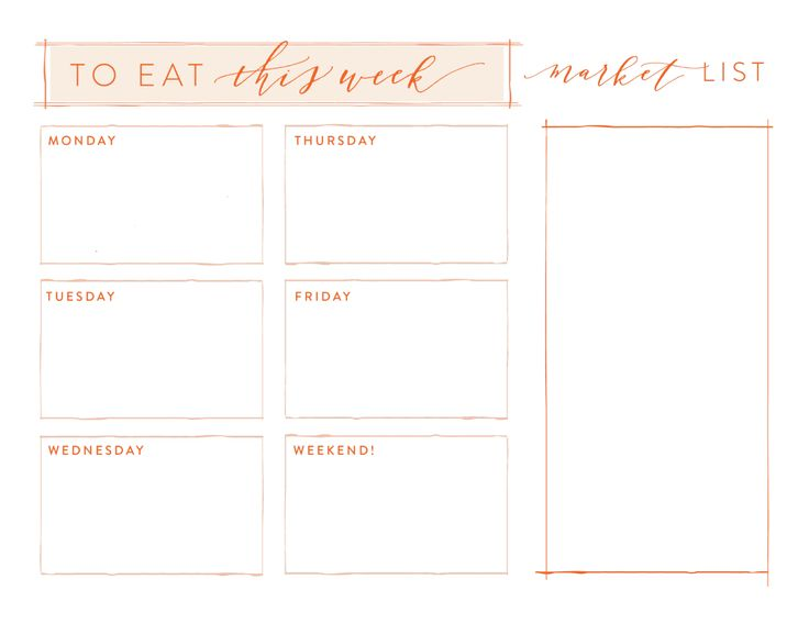 Meal Planning | At Home: A Blog by Joanna Gaines