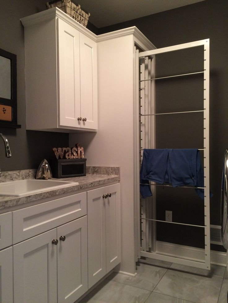 DryAway`s frames pull out easily to hang dry laundry and pushes back to dry out of sight & out of the way! 2 Frames = 1 Load of Laundry