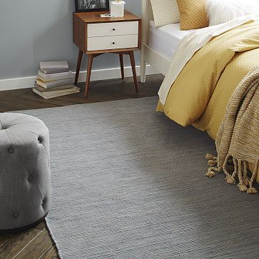 $169   9 x 12 Recycled Rag Dhurrie Rug - Feather Gray #westelm