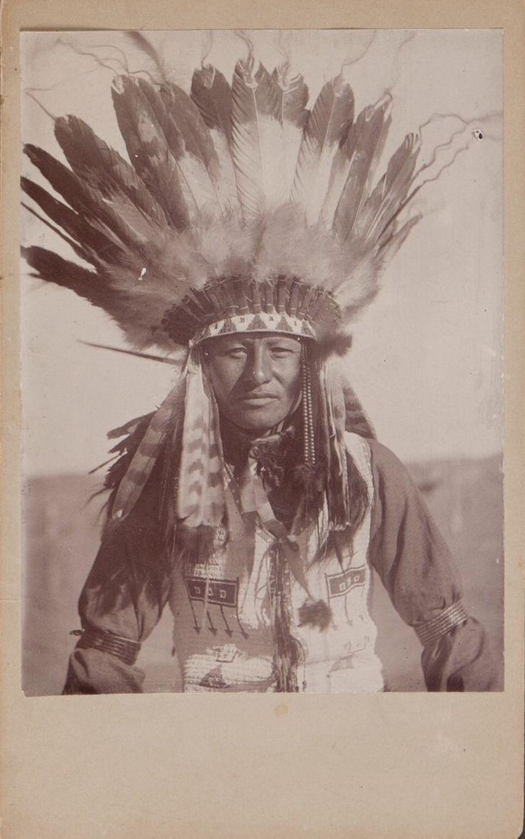 """Фотография не идентифицированного мужчины из Пайн Ридж, коллекция Rev. A. Fulton Johnson. """"American Indian, Pre-Columbian & Tribal Art Signature Auction"""", Даллас. 10 мая 2013."""