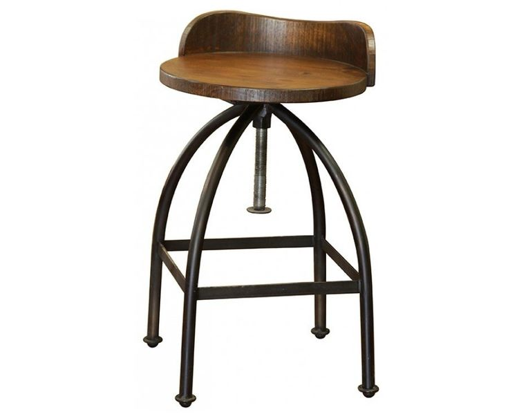 Ashland Low Back Adjustable Height Bar Stool Industrial