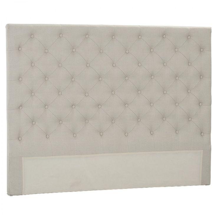 Emmaline Queen Bedhead Natural Linen - Beds & Bedheads - Bedroom