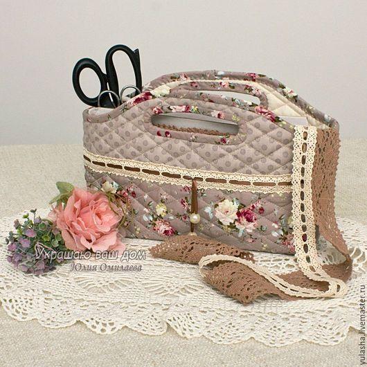 Текстильная сумочка корзинка для хранения рукоделия. Сумочка для мелочей. Подарок швее рукодельнице на день рождения. Красивый подарок на любой случай, на день рождения, на день учителя, на 8 Марта