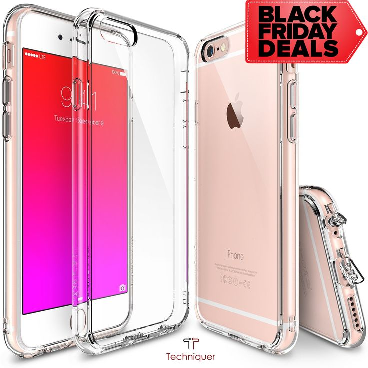 "Black Friday Deals: iPhone 6 Plus Case / iPhone 6S Plus Case [5.5""],Ultra Slim[0.6mm] Lightweight[0.8g] Transparent TPU Bumper Case with Dust Caps for Max Protection & Shock Absorption-Lifetime Warranty 100% Satisfaction"