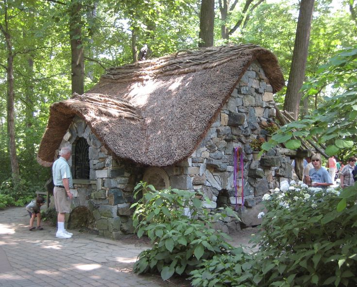 stone cottage in enchanted forest at winterthur