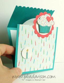 VIDEO & PDF Tutorial for Stampin' Up! Sprinkles of Life Flap Fold Card #stampinup www.juliedavison.com