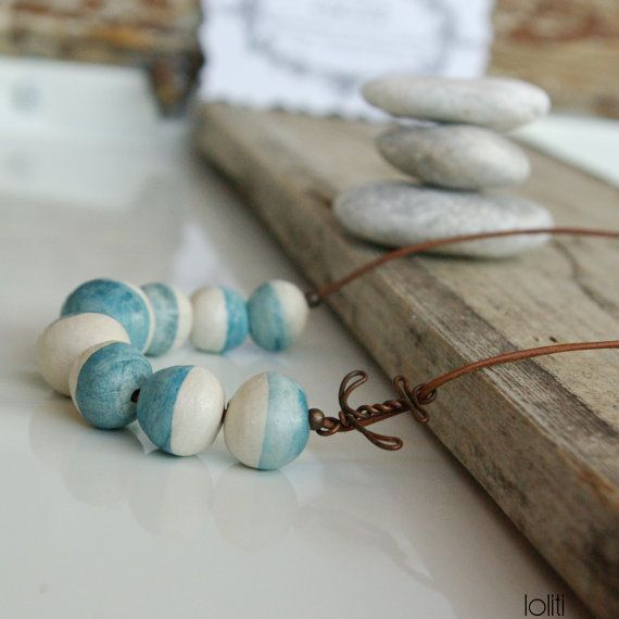 necklace inspired by sea summer seafoam and beach unique by loliti