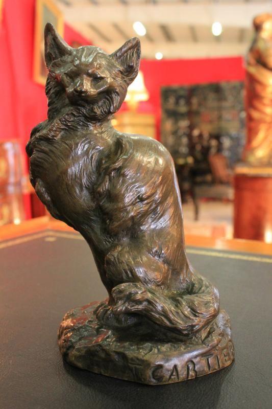 Cartier BRONZE CAT sculpture