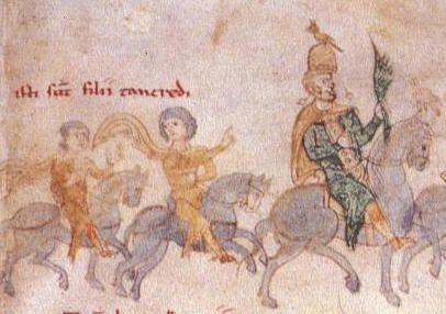 Od lewej: Wilhelm III, jego brat Roger III, ich ojciec Tankred z Lecce; Roger III król Sycylii 1191-93, mąż Ireny Angeliny  córki cesarza bizantyńskiego Izaaka II Angelosa. Jednak Roger niespodziewanie zmarł 24 grudnia 1193 roku, w czasie gdy Tankred bronił państwa przed inwazją swej ciotki Konstancji i jej męża cesarza Henryka VI. 29 grudnia Irena została porwana przez najeżdżających wyspę Niemców i zmuszona do poślubienia ówczesnego księcia Szwabii Filipa (Król Niemiec 1198-1208).