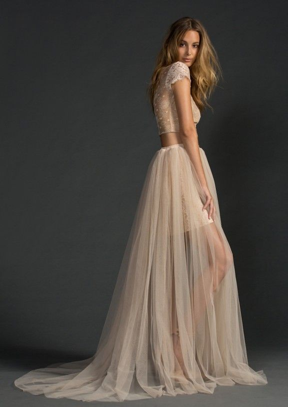 Blush two piece by Grace Loves Lace | January's top 5 wedding dresses under $1000