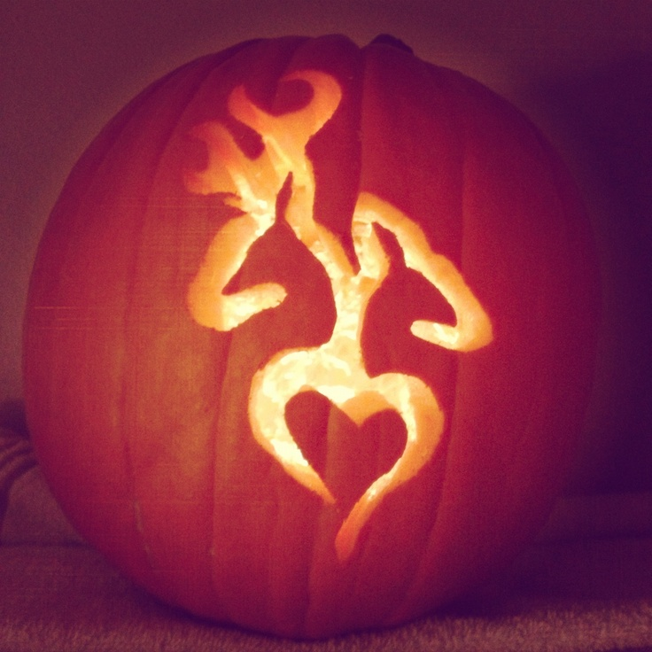 Browning Heart Pumpkin