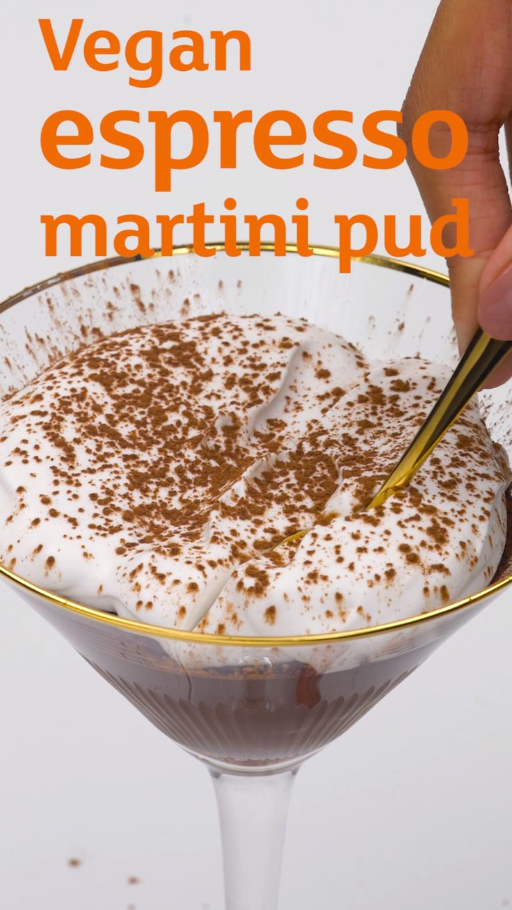 Think you don't like vegan food? This chocolate espresso martini mousse begs to differ...