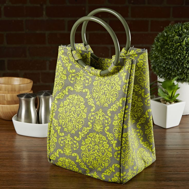 Retro Insulated Lunch Bag with Reusable Ice Pack