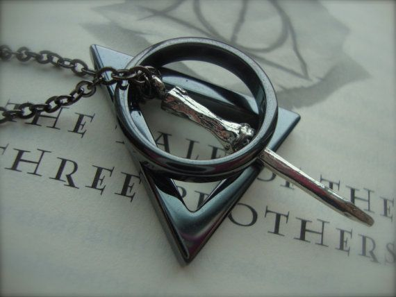 Deathly Hallows necklace. Dang. This one is legit.