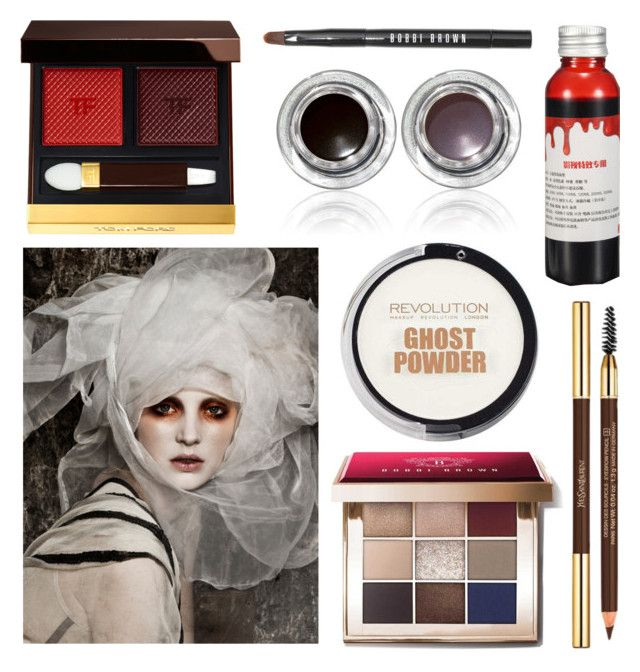 """Ghost Makeup"" by nerdywordy ❤ liked on Polyvore featuring beauty, Bobbi Brown Cosmetics, Tom Ford and Yves Saint Laurent"