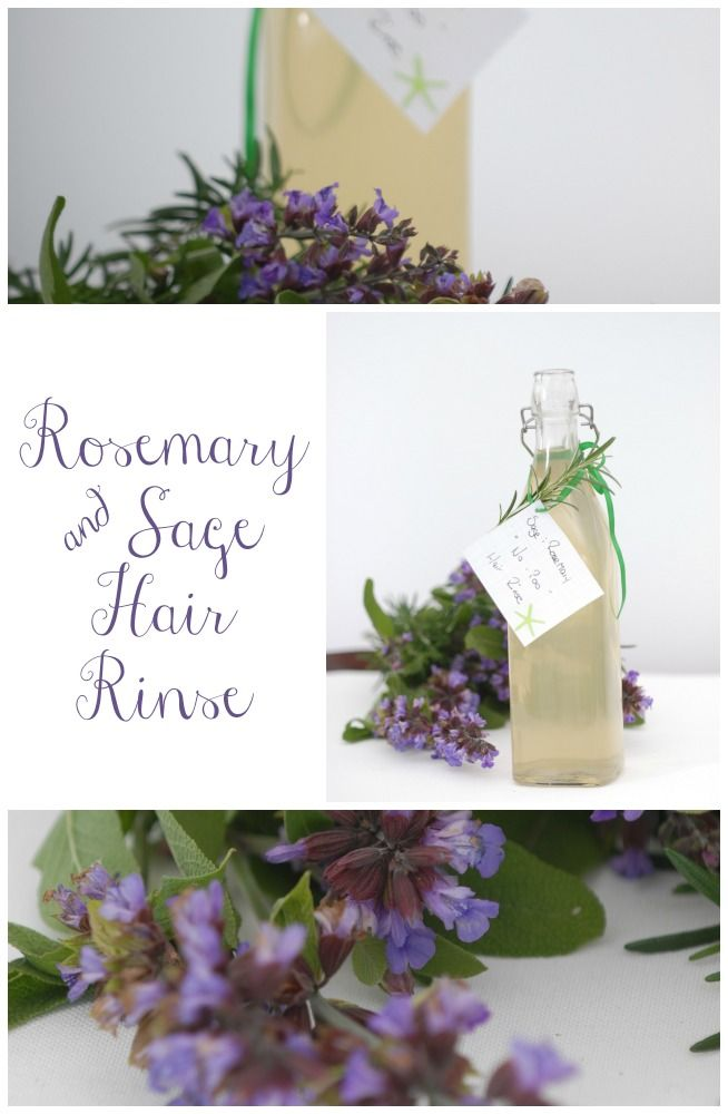 "It is spring her in Australia at the moment and my garden is going crazy, so I am always looking for creative ideas to use all the flowers & herbs. I have a heap of rosemary and sage, so I thought I would try a ""no-poo"" hair rinse, personally I love this version that I have created. I would love for you to try it and let me know your version or how soft and silky it left your hair. Feel free to experiment with different quantities to find what suits your hair type the best."