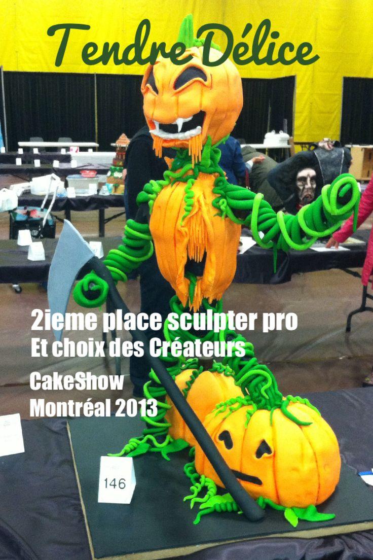 Gagnant 2ieme place sculpter pro cakeshow mtl 2013