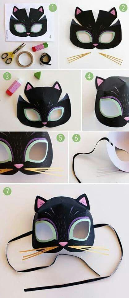how to make a catwoman mask with paper