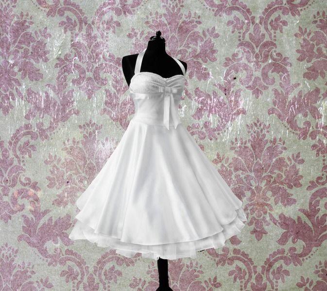 , knielang, Hochzeitskleid, von rockabillymode Kleider Brautkleider ...