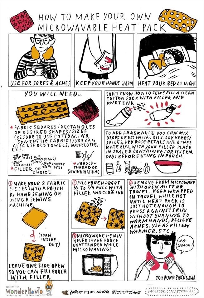 Winter Warmth: How to Make a Cheap Microwavable Heat Pack Using a Sock & Dry Beans « The Secret Yumiverse