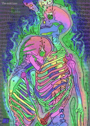 Trippy skeleton gif