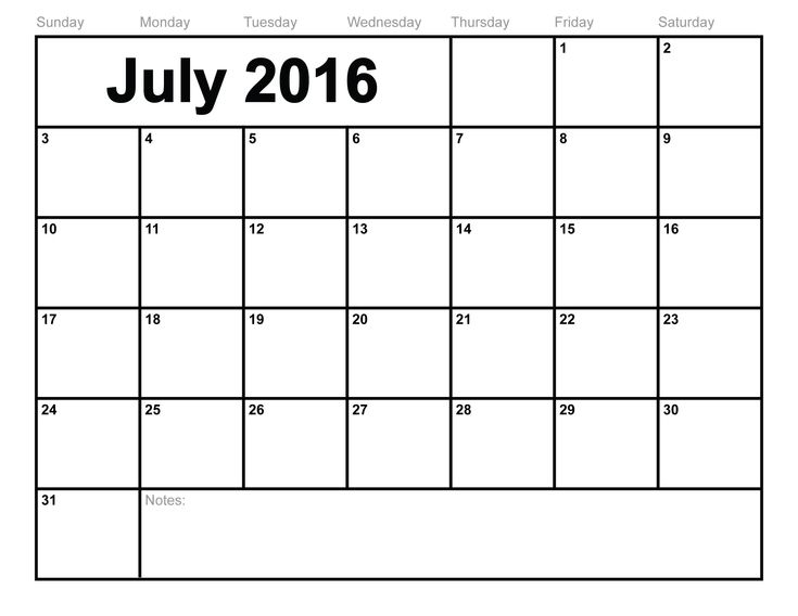 Mer enn 25 bra ideer om July 2016 calendar template på Pinterest - office calendar templates