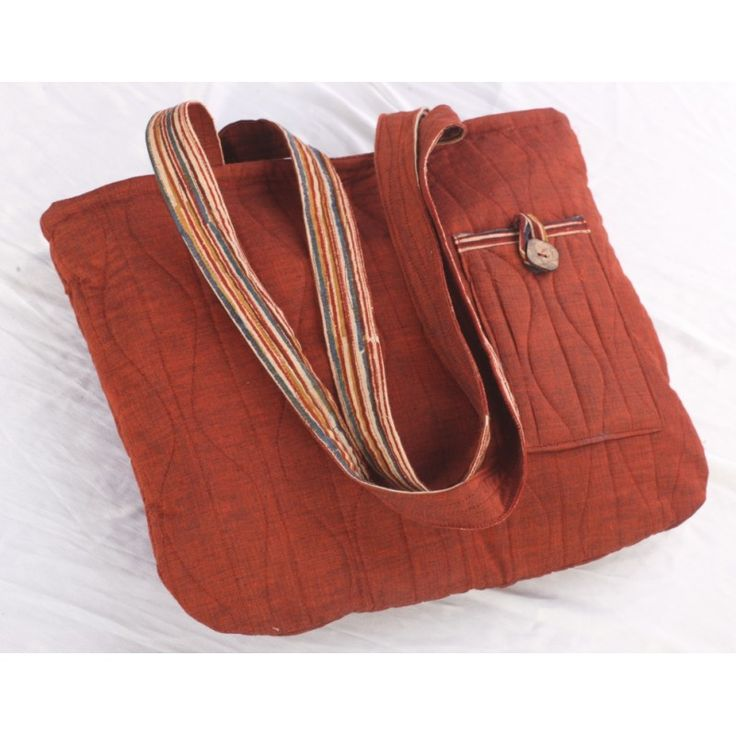 Maroon ethnic quilted bag - Kriti-Kala