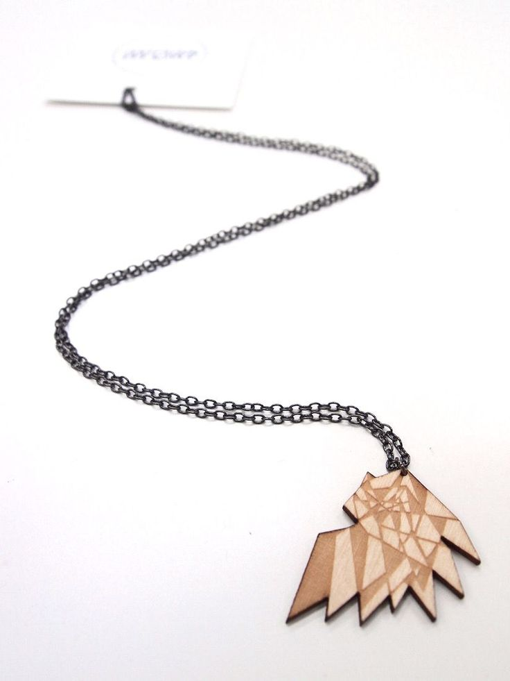 Mori Bird Neclace - Wood via MORI COLLECTIVE. Click on the image to see more!