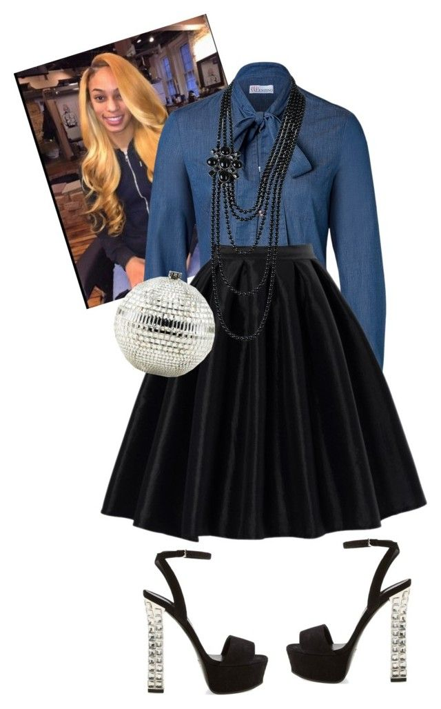 """""""Aim Convention"""" by cogic-fashion ❤ liked on Polyvore featuring RED Valentino, Chicwish, Gucci, Judith Leiber and Chanel"""