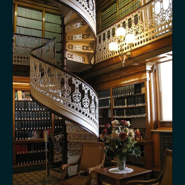 Since watching the movie Casper as a kid, I've always wanted a library like this! And I always hoped that the spiral staircase would lead to a secret lair....