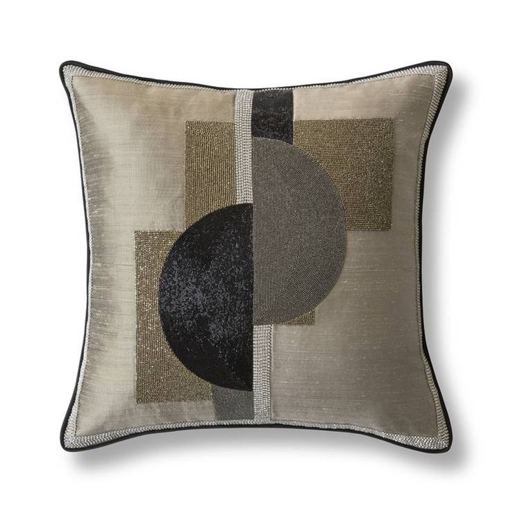 Piet cushion beautifully made by hand using glass beads and crystals.