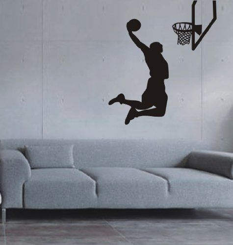 Largeu2013Easy Instant Decoration Wall Sticker Wall Mural Sport Basketball  Basketball Shoot