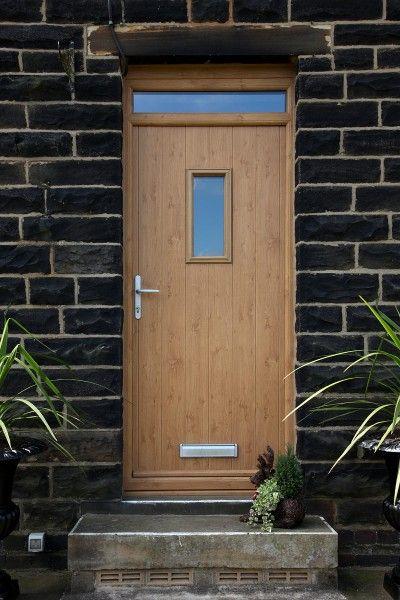 Flint 2 Composite Door With Integrated Top Light In Irish Oak Composite Doors Flint Cottage
