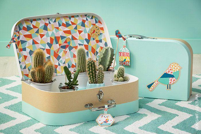 Décorez facilement une valise de peinture et papier pour donner du piquant à votre Déco !