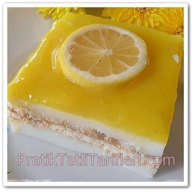 Bisküvili Limonlu Muhallebi Tarifi - Pratik Tatlı Tarifleri