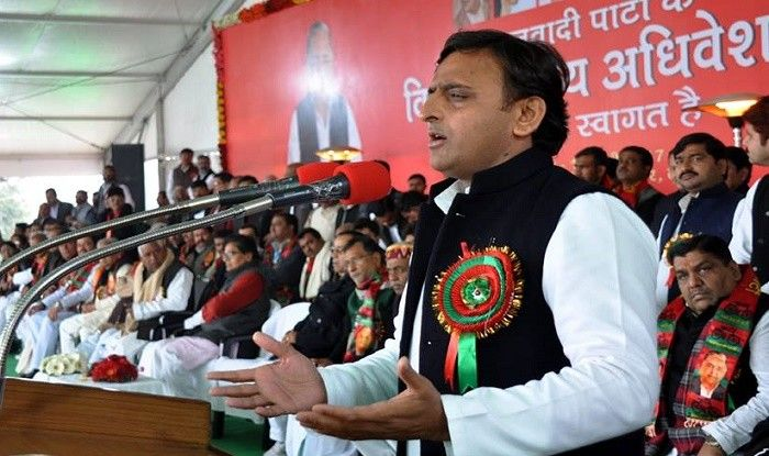 Chief Minister of UP Akhilesh Yadav released the 'Samajwadi Party Manifesto' at an event in Lucknow.