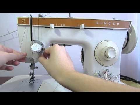 Aprendendo a mexer na maquina de costura - Como passar a linha - YouTube