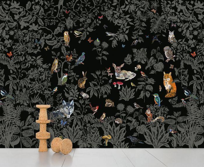 Les papiers peints les plus inspirants pour une chambre d'enfant / Papier peint Forêt noire, Nathalie Lété (Domestic)